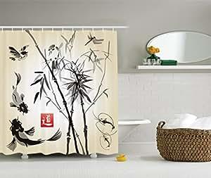 Ambesonne traditional japanese decor for Bathroom decor amazon