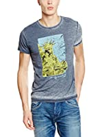 Pepe Jeans London Camiseta Manga Corta Liberty Regular Fit (Azul Oscuro)