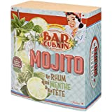 Coffret Kit À Mojito BAR CUBAIN - Verres À Cocktail Touilleurs Pailles Larges