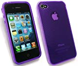 EMARTBUY APPLE IPHONE 4/ IPHONE 4G HD CONTOUR PATTERN GEL/COVER/SKIN PURPLE gadgets