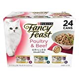 Fancy Feast Wet Cat Food, Grilled, Poultry & Beef Feast Variety Pack, 3-Ounce Can, Pack of 24