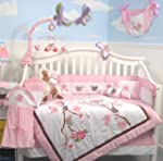 SoHo Love Birds Story Baby Crib Nurse...