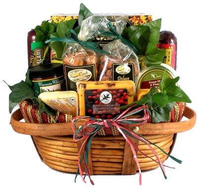 Gift Basket Village The Midwesterner Cheese and Sausage Gift Basket, Medium image
