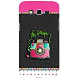 For Samsung Galaxy Grand 2 :: Samsung Galaxy Grand 2 G7105 :: Samsung Galaxy Grand 2 G7102 Oh Snap ( Oh Snap, Good Quotes, Nice Quotes, Polka, Heart, Camera ) Printed Designer Back Case Cover By FashionCops
