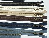 アンティークゴールド オープンファスナー 70cm 黒 580 DAMSL1