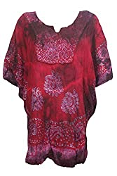Indiatrendzs Women's Rayon Tie Dye Casual Wear Poncho Or Loose Top Navratri Special Sale
