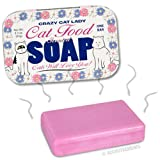 Accoutrements Crazy Cat Lady Soap In Vintage Collectible Tin - Cat Food Scented