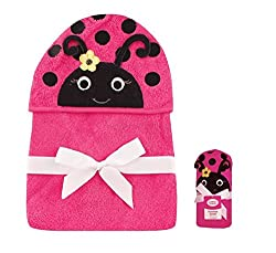 Luvable Friends - Pink Hooded Towel 33 x 33 Inches