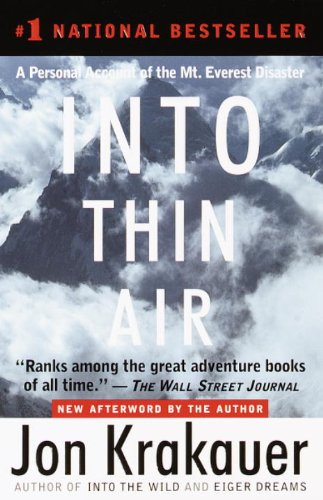 """Save 70% on the book that Wall Street Journal says """"ranks among the great adventure books of all time.""""  Into Thin Air by Jon Krakauer, author of INTO THE WILD"""