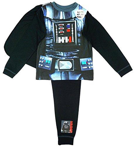 Disney-Costume di Star Wars Darth Vader Uwear-Pigiama con mantello 2 agli 8 anni Nero  nero