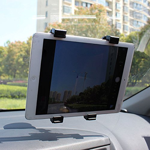 iMounTEK Universal Suction Cup Car Mount Holder Expanding 7-10.1 Inches for Tablets, GPS, DVD Players Including iPad Mini 1, 2, 3, 4, 5 Samsung Galaxy Tabs, Asus Transformer - Black