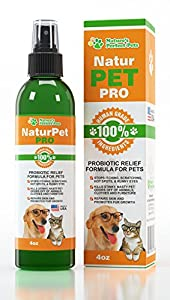 Best PROBIOTICS FOR DOGS & CATS- NaturPet Pro - Healthy Fur, Skin, Paws & Ears! Works Or Your Money Back. Keep Your Dog Happy & Clean. Protect From Bad Breath, Fleas, Itching, Bald Spots, Looking Unclean + More. Buy 1 Get 1 30% Off! Probiotic Sprays for Dogs