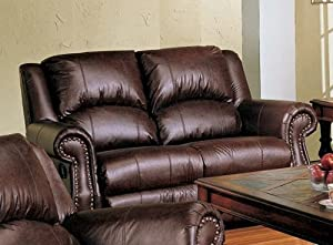 Recliner Loveseat Sofa Nail Head Trim In Dark