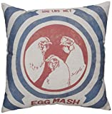 Primitives by Kathy Egg Mash Pillow, 19.5 by 19.5-Inch