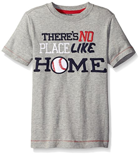 Gymboree Big Boys No Place Like Home Graphic Tee, Classic Grey Heather, 8