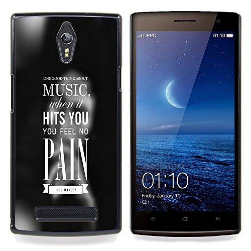 Qstar Art & Design plastica dura Guscio Protettivo Cassa Cover Per OPPO Find 7 X9077 X9007 (Music Hits Si)