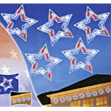 Sienna LED Red White and Blue Patriotic Star Christmas Lights with White Wire, Set of 5