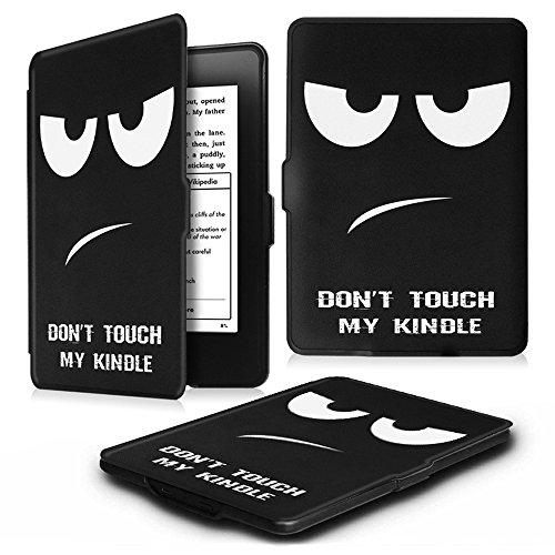 Fintie Kindle Paperwhite Custodia - Case Cover Custodia Ultra Sottile per Amazon Nuovo Kindle Paperwhite (Adatto Tutte le versioni: 2012, 2013, 2014 e 2015 Nuovo 300 ppi), Dont Touch
