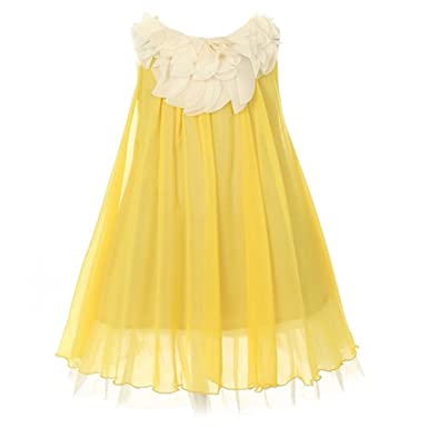 Girls Yellow Dress on Pinterest | Girl Clothing, Yellow Dress and ...