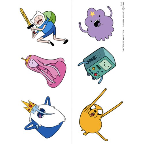 Adventure Time Temporary Tattoos