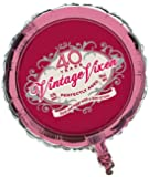 Creative Converting Vintage Vixen 40th Birthday 2-Sided Round Mylar Balloon