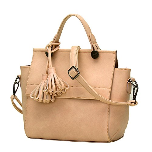 koson-man-womens-charming-sweet-elegance-leather-pure-color-tassels-ornaments-tote-bags-shoulder-bag