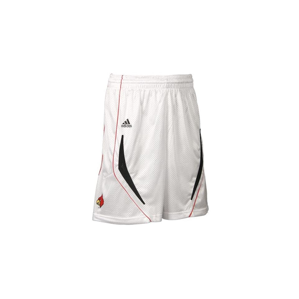 adidas Louisville Cardinals White Replica Basketball Shorts