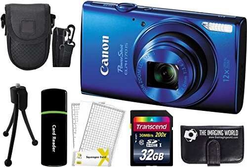 canon-powershot-elph-170-is-200mp-digital-camera-blue-32gb-card-reader-case-accessory-bundle