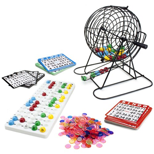 Buy Cheap Royal Bingo Supplies Jumbo Bingo Game with 100 Bingo Cards, 500 Bingo Chips and 9'' Drum