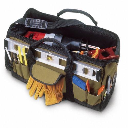 Custom LeatherCraft 1164 32 Pocket - 24-Inch Megamouth Tote Bag
