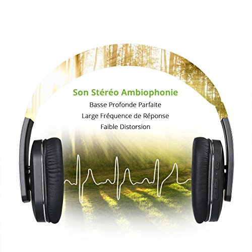 Ideausa Etui Founi Casque Audio Bluetooth 40 Sans Fil Tv Pliable
