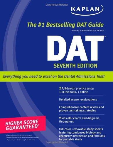 Kaplan DAT with CD-ROM, 2007-2008 Edition    (Kaplan Dat (Dental Admission Test))