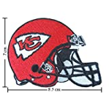 Kansas City Chiefs Helmet Logo Embroidered Sew Iron on Patches Great Gift for Dad Mom Man Woman at Amazon.com