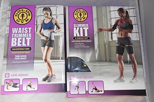 Gold's Gym Waist Trimmer Belt Plus Bonus Slimmer Kit (4 PIece) Thigh and Arm (Gold Gym Ab Wheel compare prices)