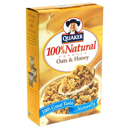 Natural granola, oats and honey is a low fat, low sodium, cholesterol free