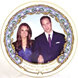Bone China Royal Wedding Prince William and Kate Middleton Plate 8""