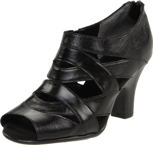 Aerosoles Women's Ginyard Open-Toe Pump,Black Leather,8.5 M US