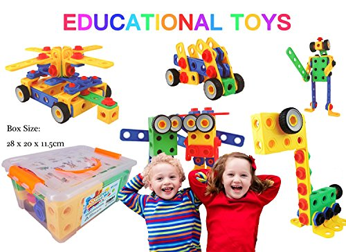 Creative Builder Set - Building Toys for Boys and Girls! 85+5 Bonus Pieces Set To Build Your Imagination Today! Learning and Kids Have Fun! (Best Gifts For A 7 Year Old Boy compare prices)
