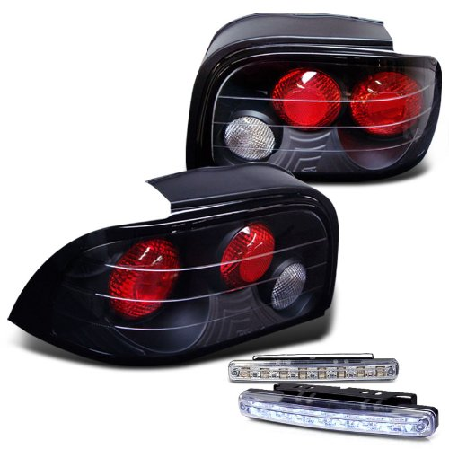 Rxmotoring 1994 1995 Ford Mustang Tail Light + 8 Led Bumper Fog Lamps (Fog Lights For 94 Mustang Gt compare prices)