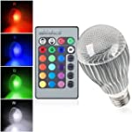 Gl�hbirne Colorful E27 9W RGB 16 Bunt...