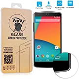 tinxi� Tempered Explosionsgesch�tzte Glass Hartglas Schutzfolie f�r Google Nexus 5 Premium Screen Folie Protector Ultra Hart Displayschutz Panzerfolie Glas 0,3mm clear 2.5D