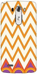 Snoogg Minimal Waves Designer Protective Back Case Cover For LG G3