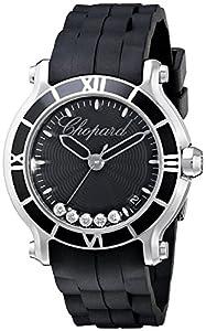 Chopard Women's 278551-3002 RBK Happy Sport Round Analog Display Swiss Quartz Black Watch