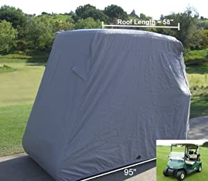 Deluxe 2 Passenger Golf Cart Cover, fits E Z GO, Club Car, 2 passenger and Yamaha G... by Formosa Covers