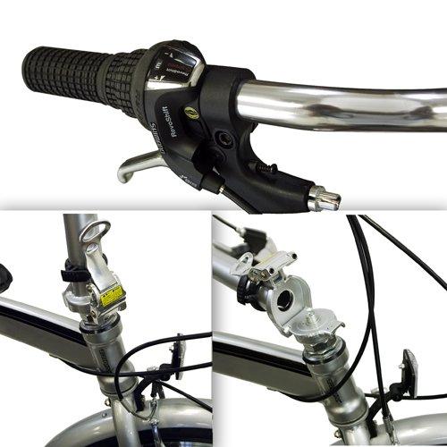 "Best Choice Products Folding Bike 20"" Shimano 6 Speed Bike Fold Storage Silver College School Sports"