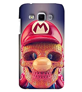 Blue Throat Skeleton Face With Red Hat Printed Designer Back Cover/Case For Samsung Galaxy J3