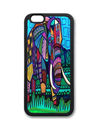 Fantastic Faye Pc Material Abstract Oil Paintig Elephant Cute Colorful Cartoon Lovely Cell Phone Cases Special For Iphone 6 No.3