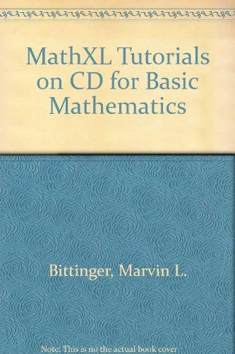 Mathxl Tutrl CD Bas Math