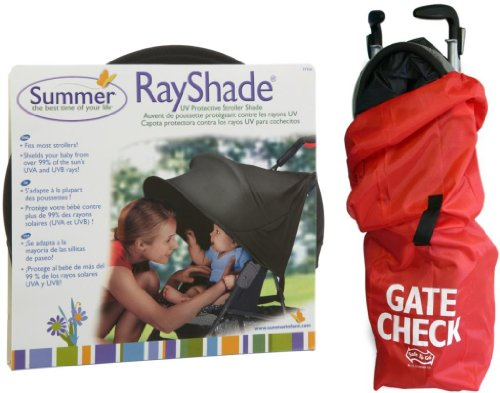 Summer Infant Ray Shade Uv Protective Stroller Cover And Gate Check Bag Set front-542152
