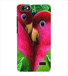 ColourCraft Love Birds Design Back Case Cover for HUAWEI HONOR 4C